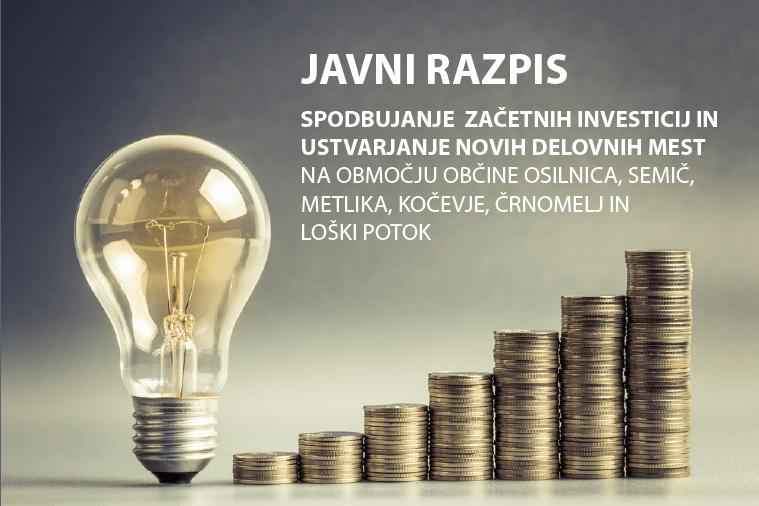 Spodbujanje začetnih investicij in ustvarjanje delovnih mest