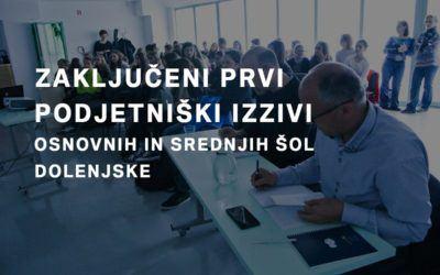 Zaključen prvi Podjetniški izziv Dolenjske