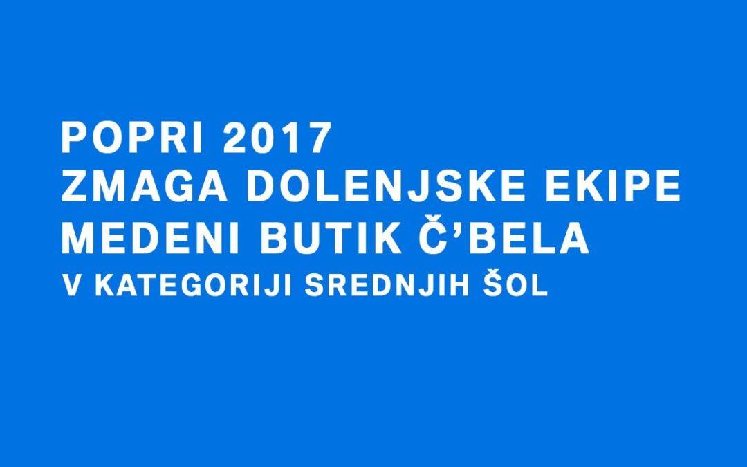POPRI 2017: Zmaga dolenjske ekipe