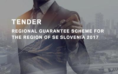 Tender of the Regional Guarantee Scheme 2017