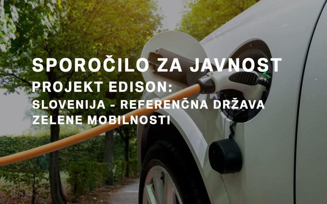Projekt EDISON: Slovenija ‐ referenčna država zelene mobilnosti
