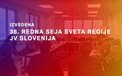 Izvedena 38. redna seja Sveta regije JV Slovenija