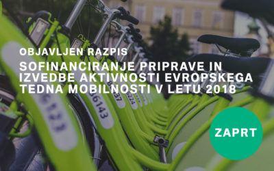 Razpis za sofinanciranje priprave in izvedbe aktivnosti ETM 2018