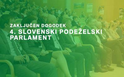Zaključen odličen dogodek: 4. Slovenski podeželski parlament