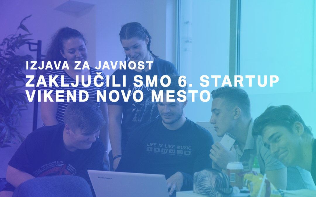 Zaključili smo 6. Startup vikend Novo mesto