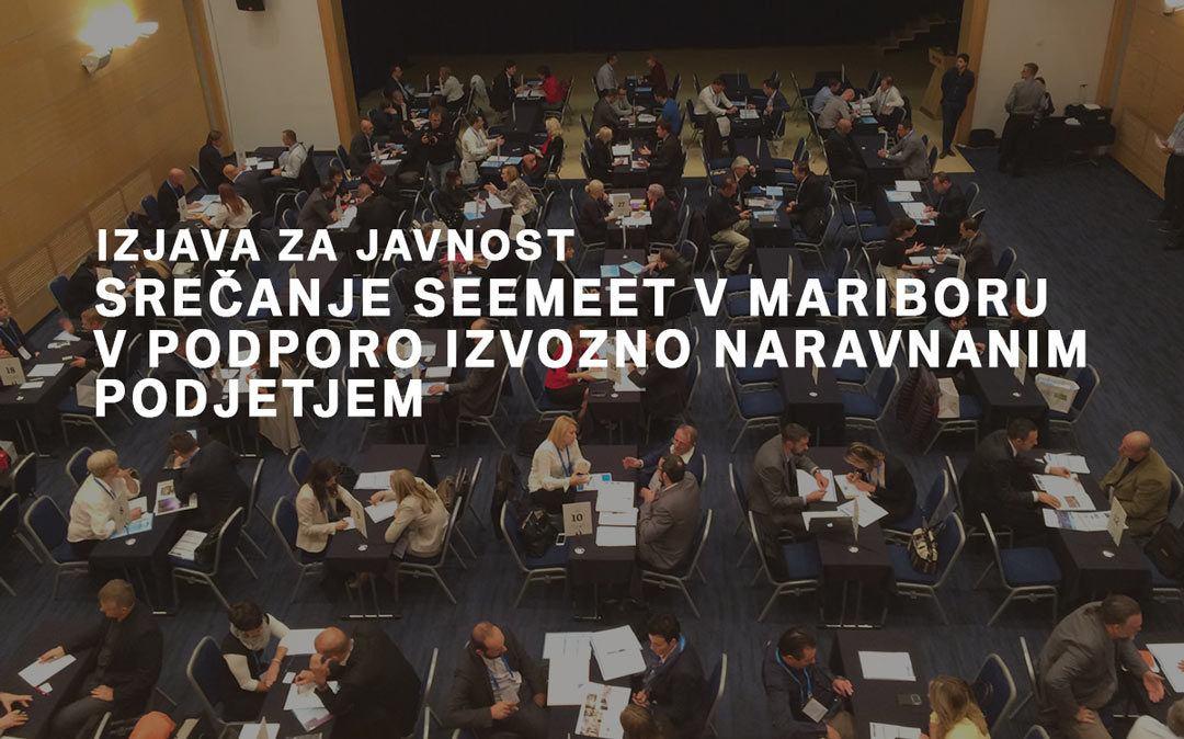 Srečanje SEEmeet v Mariboru v podporo izvozno naravnanim podjetjem