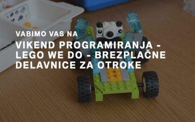 Vikend programiranja – LEGO WE DO
