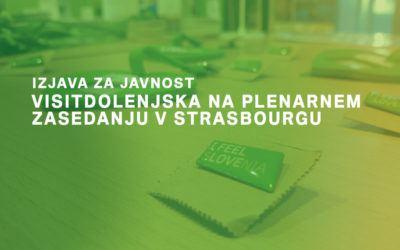 VisitDolenjska na Plenarnem zasedanju v Strasbourgu