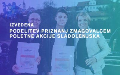 Podelitev priznanj zmagovalcem poletne akcije Sladolenjska