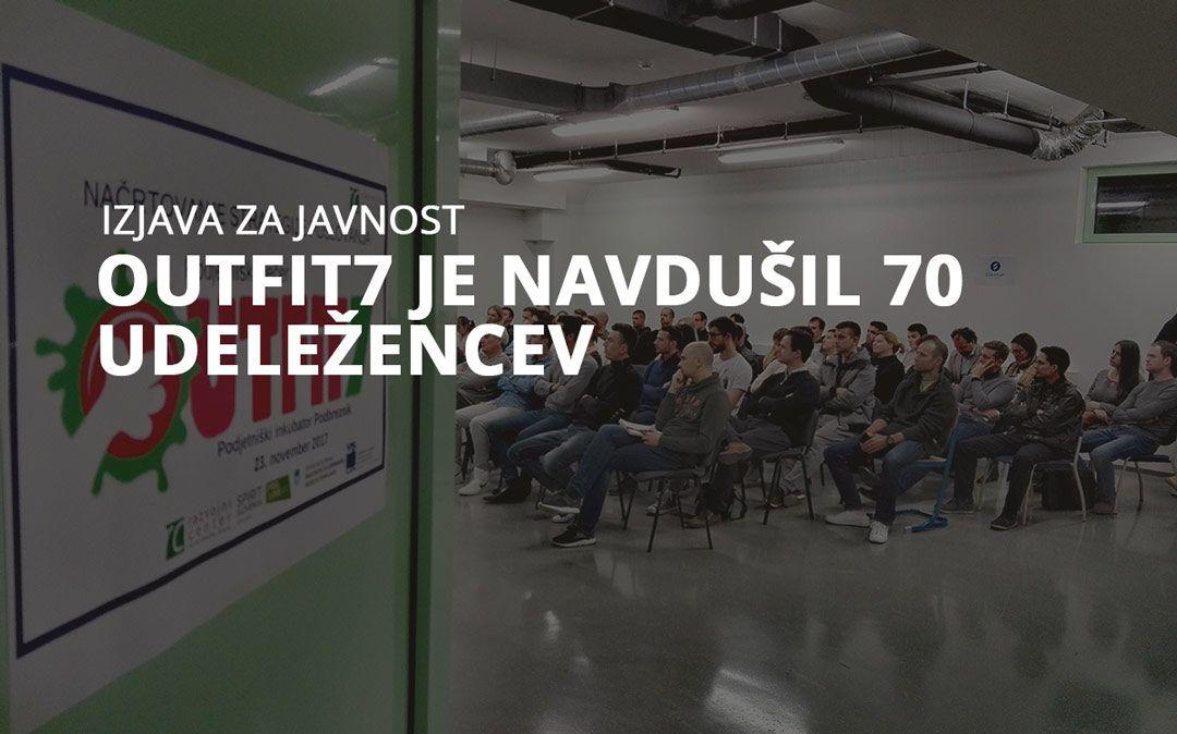 Outfit7 je navdušil 70 udeležencev