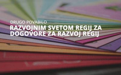Objavljeno 2. povabilo razvojnim svetom regij za razvoj regij