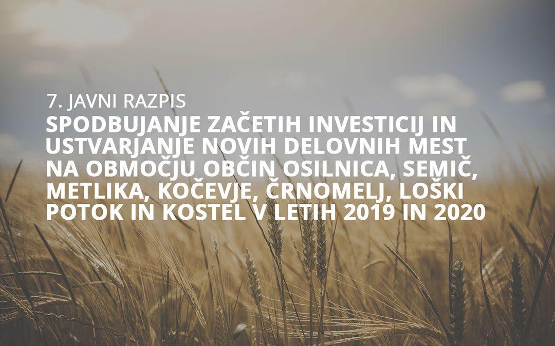 Razpis za spodbujanje začetnih investicij in ustvarjanja novih delovnih mest na območju Pokolpja
