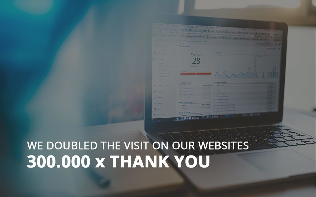 We doubled the visit on our websites