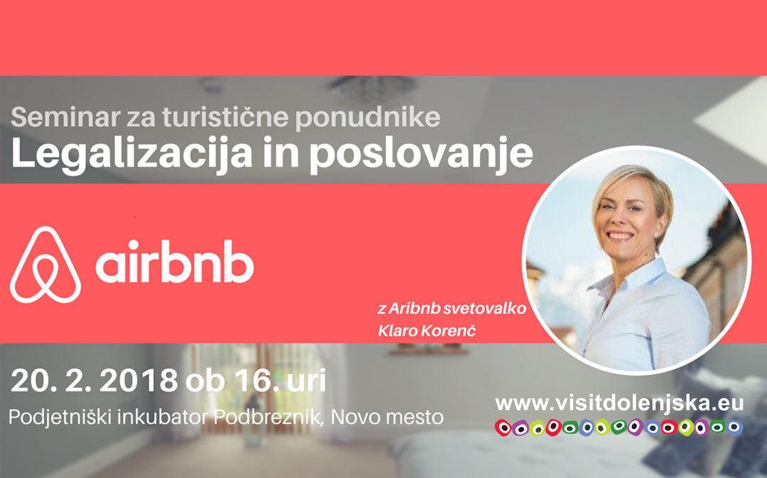 Seminar za turistične ponudnike: Airbnb – legalizacija in poslovanje