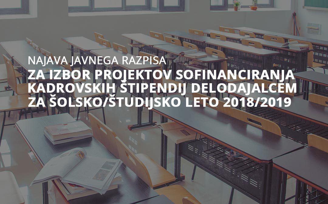 Najava javnega razpisa RŠS 2018/2019