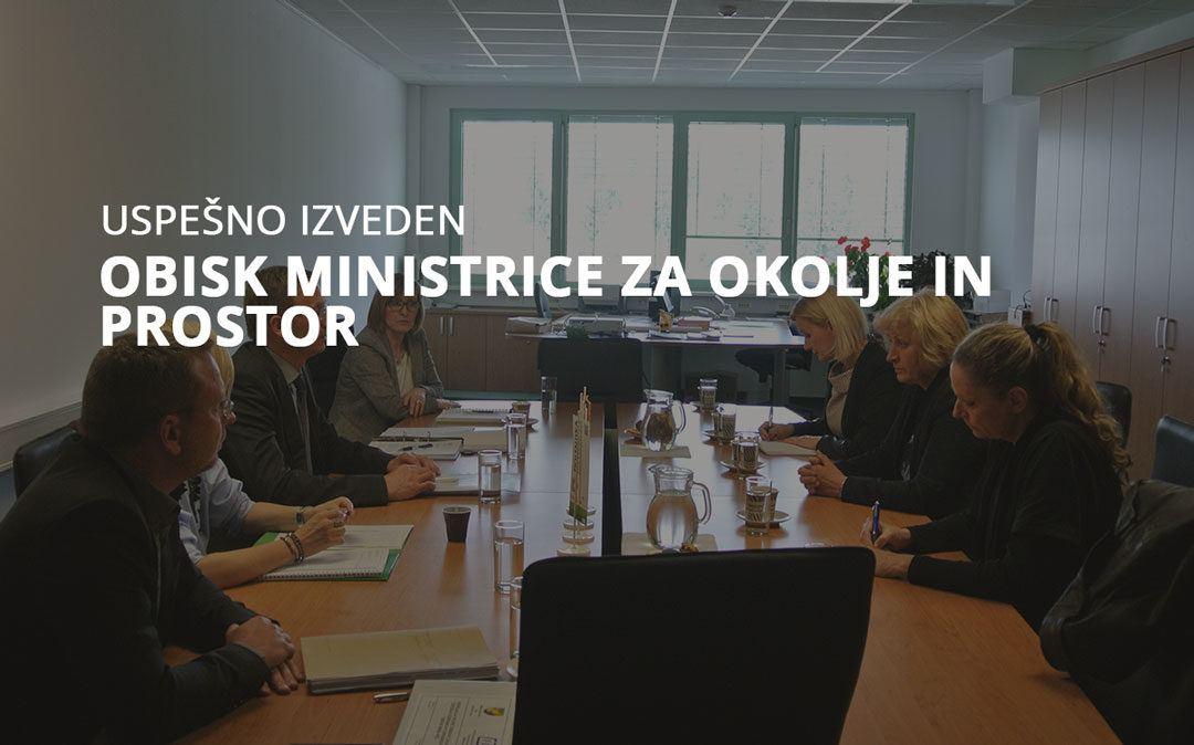 Obisk ministrice za okolje in prostor