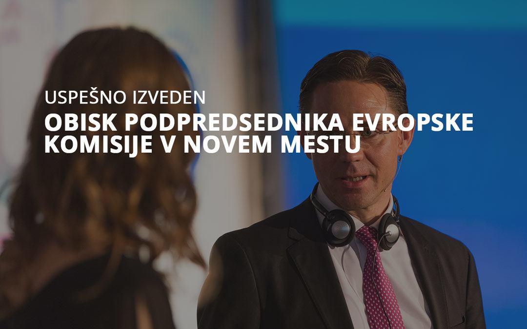 Obisk podpredsednika Evropske komisije v Novem mestu