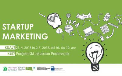 Tečaj Startup Marketinga v Novem mestu
