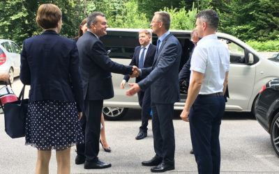 Rusko delegacijo navdušil obisk Podjetniškega inkubatorja Podbreznik