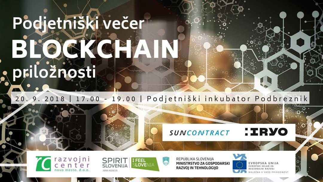Podjetniški večer: Blockchain priložnosti
