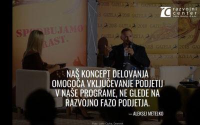 Razvojni center na podelitvi dolenjsko-posavske gazele 2018 navdušil s sodelovanjem