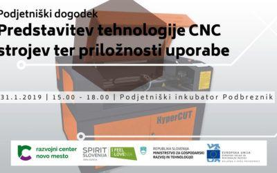 Podjetniški dogodek: Predstavitev tehnologije CNC strojev ter priložnosti uporabe