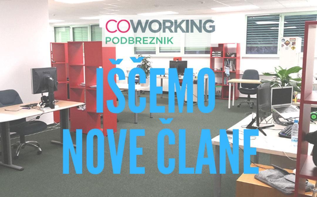 Širimo coworking in delo z novimi mladimi podjetniki