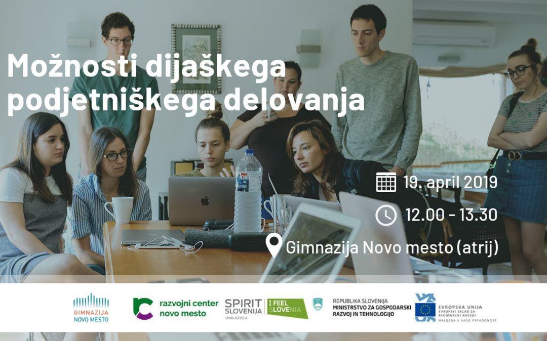 Dogodek: Možnosti dijaškega podjetniškega delovanja