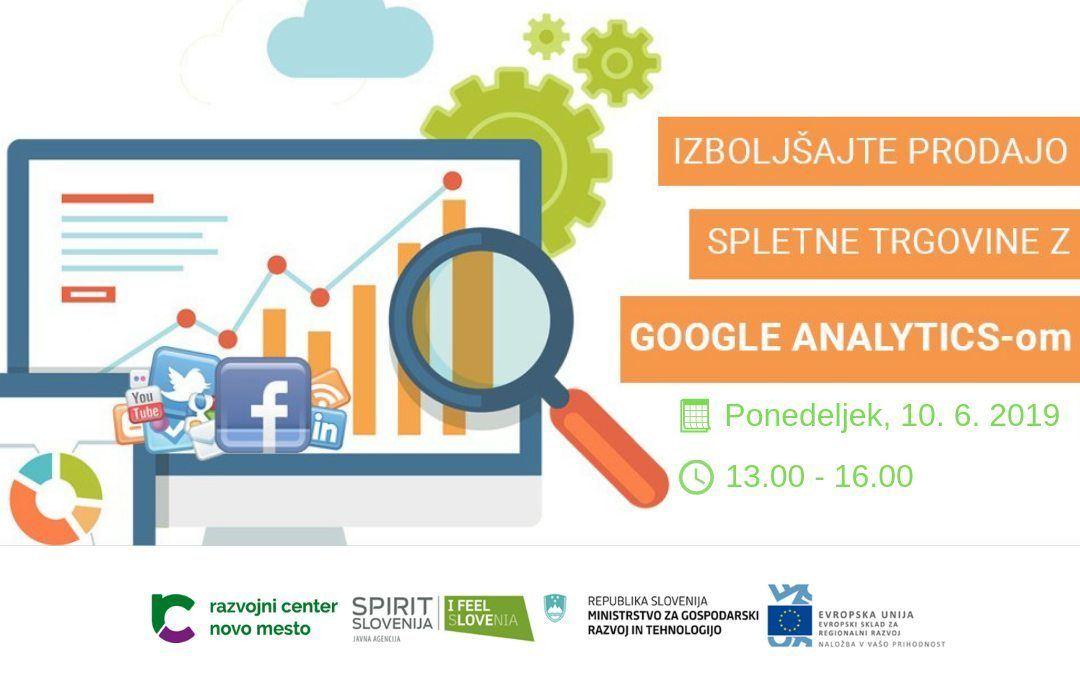 Brezplačna delavnica: Izboljšajte prodajo spletne trgovine z Google Analytics-om
