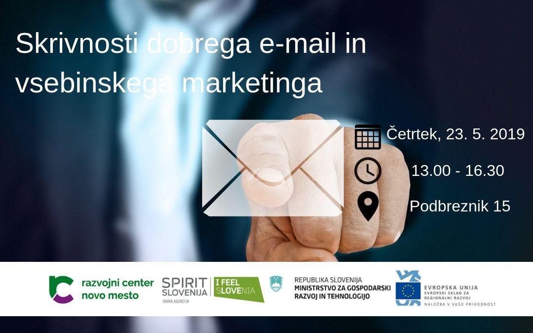Skrivnosti dobrega e-mail in vsebinskega marketinga