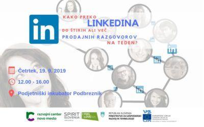 Praktična delavnica za podjetnike: Kako preko LinkedIna do štirih ali več prodajnih razgovorov na teden?