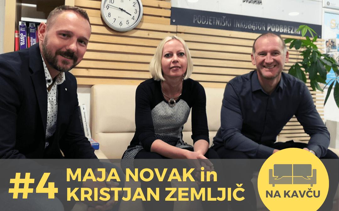 Na kavču #4 – Maja Novak in Kristjan Zemljič