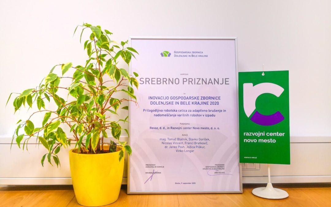 Razvojni center Novo mesto med prejemniki srebrnega priznanja za inovacije