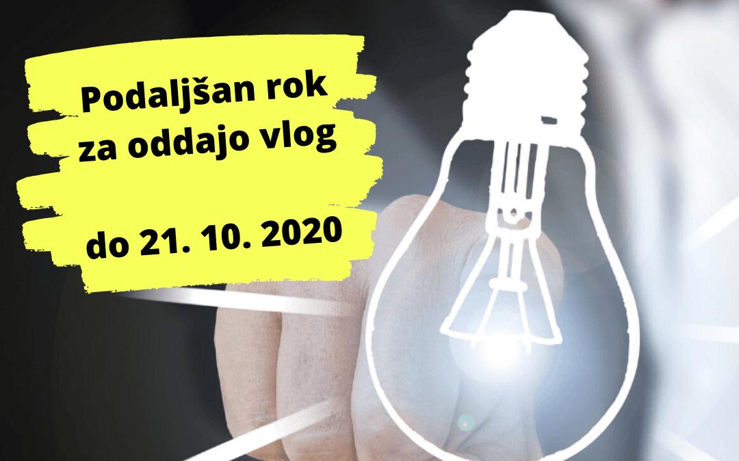 Podaljšanje roka za oddajo vlog – PODJETNIŠKE INOVACIJE 2020