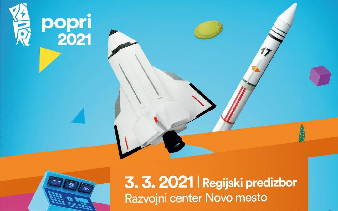 Potek regijskega tekmovanja POPRI 2021 – Novo mesto